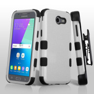 TUFF Case + Holster for Samsung Galaxy J3 (2017) / J3 Emerge / J3 Prime / Amp Prime 2 / Sol 2 - Grey