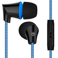 *SALE* HyperGear Sound Wavez Braided Stereo Earphones with In-Line Microphone - Blue