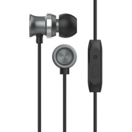 *Sale* HyperGear dBm Metal Dynamic Stereo Earphones with In-Line Microphone - Black