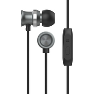 HyperGear dBm Metal Dynamic Stereo Earphones with In-Line Microphone - Black