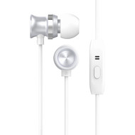 HyperGear dBm Metal Dynamic Stereo Earphones with In-Line Microphone - Silver