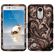Military Grade TUFF Image Hybrid Armor Case for LG Aristo / Fortune / K8 2017 / Phoenix 3 - Phoenix Flower Rose Gold