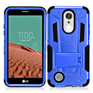 *SALE* Transformer Hybrid Armor Case with Stand for LG Aristo / Fortune / K8 2017 / Phoenix 3 - Blue