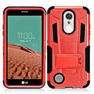 *SALE* Transformer Hybrid Armor Case with Stand for LG Aristo / Fortune / K8 2017 / Phoenix 3 - Red