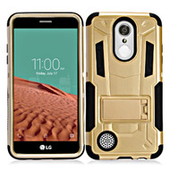 *SALE* Transformer Hybrid Armor Case with Stand for LG Aristo / Fortune / K8 2017 / Phoenix 3 - Gold