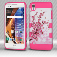 *SALE* Military Grade TUFF Trooper Dual Layer Hybrid Armor Case for LG Tribute HD / X Style - Spring Flowers