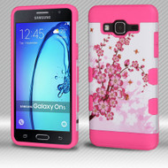 Military Grade Certified TUFF Trooper Dual Layer Hybrid Armor Case for Samsung Galaxy On5 - Spring Flowers
