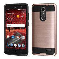 Brushed Hybrid Armor Case for ZTE Grand X4 - Rose Gold