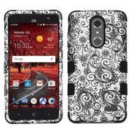*Sale* Military Grade Certified TUFF Image Hybrid Armor Case for ZTE Grand X4 - Leaf Clover Black