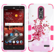 Military Grade Certified TUFF Image Hybrid Armor Case for ZTE Grand X4 - Spring Flowers