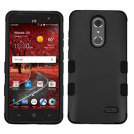 Military Grade Certified TUFF Hybrid Armor Case for ZTE Grand X4 - Black