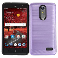 Brushed Multi-Layer Hybrid Armor Case for ZTE Grand X4 - Purple