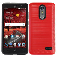 *Sale* Brushed Multi-Layer Hybrid Armor Case for ZTE Grand X4 - Red