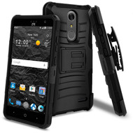 *SALE* Advanced Armor Hybrid Kickstand Case with Holster for ZTE Grand X4 - Black