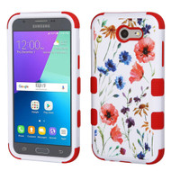 Military Grade TUFF Image Hybrid Armor Case for Samsung Galaxy J3 Emerge - Watercolor Flowers
