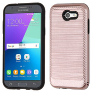 Brushed Multi-Layer Hybrid Case for Samsung Galaxy J3 (2017) / J3 Emerge / J3 Prime / Amp Prime 2 / Sol 2 - Rose Gold