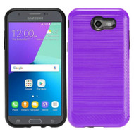 *SALE* Brushed Hybrid Armor Case for Samsung Galaxy J3 (2017) / J3 Emerge / J3 Prime / Amp Prime 2 / Sol 2 - Purple