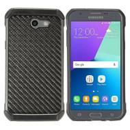 Tough Anti-Shock Hybrid Case for Samsung Galaxy J3 Emerge - Carbon Fiber