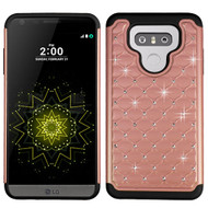 TotalDefense Diamond Hybrid Case for LG G6 - Rose Gold