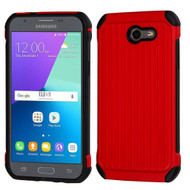 *Sale* Suitcase Design Hybrid Cover for Samsung Galaxy J3 (2017) / J3 Emerge / J3 Prime / Amp Prime 2 / Sol 2 - Red