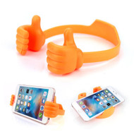 Thumbs Up Multi-Angle Desktop Smartphone Stand - Orange