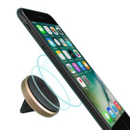Aluminum Magnetic Car Air Vent Mount Holder - Gold