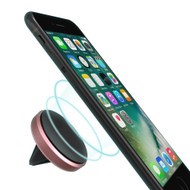 Aluminum Magnetic Car Air Vent Mount Holder - Rose Gold