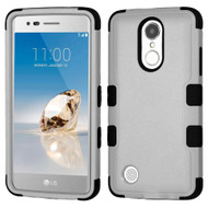 Military Grade TUFF Hybrid Armor Case for LG Aristo / Fortune / K8 2017 / Phoenix 3 - Grey
