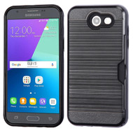 Card To Go Hybrid Case for Samsung Galaxy J3 (2017) / J3 Emerge / J3 Prime / Amp Prime 2 / Sol 2 - Black