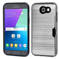 Card To Go Hybrid Case for Samsung Galaxy J3 (2017) / J3 Emerge / J3 Prime / Amp Prime 2 / Sol 2 - Silver
