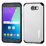 Rugged Weave Hybrid Case for Samsung Galaxy J3 (2017) / J3 Emerge / J3 Prime / Amp Prime 2 / Sol 2 - Silver