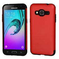 Slim Armor Multi-Layer Hybrid Case for Samsung Galaxy Amp Prime / Express Prime / J3 / Sol - Red