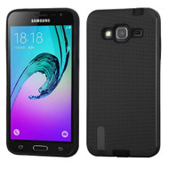 *SALE* Silk Lines Multi-Layer Hybrid Case for Samsung Galaxy Amp Prime / Express Prime / J3 / Sol - Black