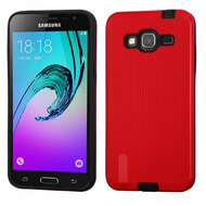 Silk Lines Multi-Layer Hybrid Case for Samsung Galaxy Amp Prime / Express Prime / J3 / Sol - Red