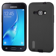*Sale* Silk Lines Multi-Layer Hybrid Case for Samsung Galaxy Amp 2 / Express 3 / J1 (2016) - Black