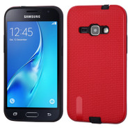 *Sale* Silk Lines Multi-Layer Hybrid Case for Samsung Galaxy Amp 2 / Express 3 / J1 (2016) - Red