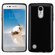 Rubberized Crystal Case for LG Aristo / Fortune / K8 2017 / Phoenix 3 - Jet Black