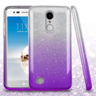 Full Glitter Hybrid Protective Case for LG Aristo / Fortune / K8 2017 / Phoenix 3 - Gradient Purple