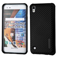 Rugged Weave Multi-Layer Hybrid Case for LG Tribute HD / X Style - Black