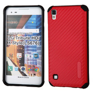 *Sale* Rugged Weave Multi-Layer Hybrid Case for LG Tribute HD / X Style - Red