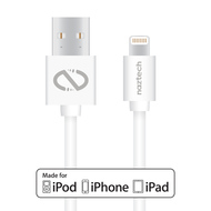 Naztech Lightning MFi 10ft. Charge and Sync Cable - White
