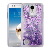 Quicksand Glitter Transparent Case for LG Aristo / Fortune / K8 2017 / Phoenix 3 - Purple