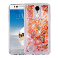 *SALE* Quicksand Glitter Transparent Case for LG Aristo / Fortune / K8 2017 / Phoenix 3 - Red