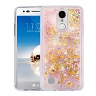 Quicksand Glitter Transparent Case for LG Aristo / Fortune / K8 2017 / Phoenix 3 - Pink