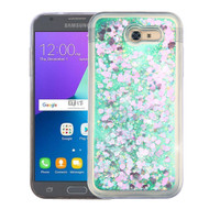 Quicksand Glitter Transparent Case for Samsung Galaxy J3 (2017) / J3 Emerge / J3 Prime / Amp Prime 2 / Sol 2 - Green