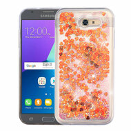 Quicksand Glitter Transparent Case for Samsung Galaxy J3 (2017) / J3 Emerge / J3 Prime / Amp Prime 2 / Sol 2 - Red