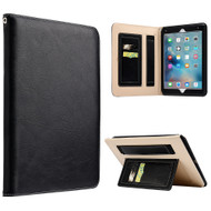 Workman Smart Leather Folio Case with Stand and Hand Strap for iPad Pro 9.7 inch - Black