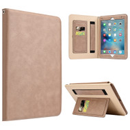 Workman Smart Leather Folio Case with Stand and Hand Strap for iPad Pro 9.7 inch - Beige