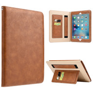 Workman Smart Leather Folio Case with Stand and Hand Strap for iPad Pro 9.7 inch - Brown