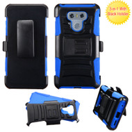 *Sale* Advanced Armor Hybrid Kickstand Case with Holster for LG G6 - Black Blue